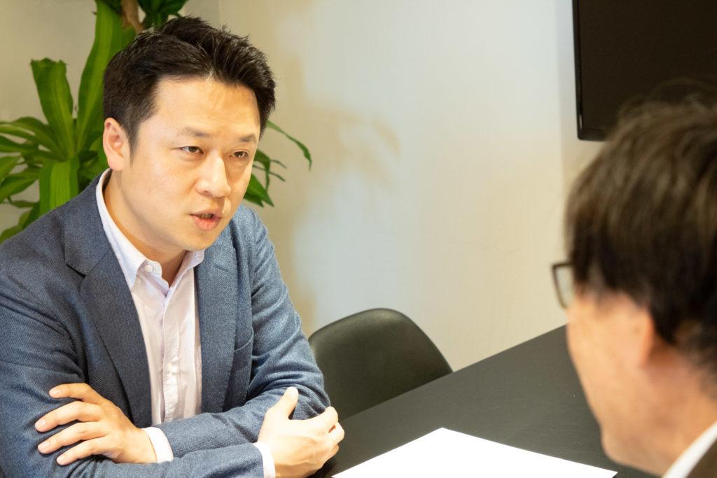 chatwork元CEO 山本敏行氏インタビューの様子