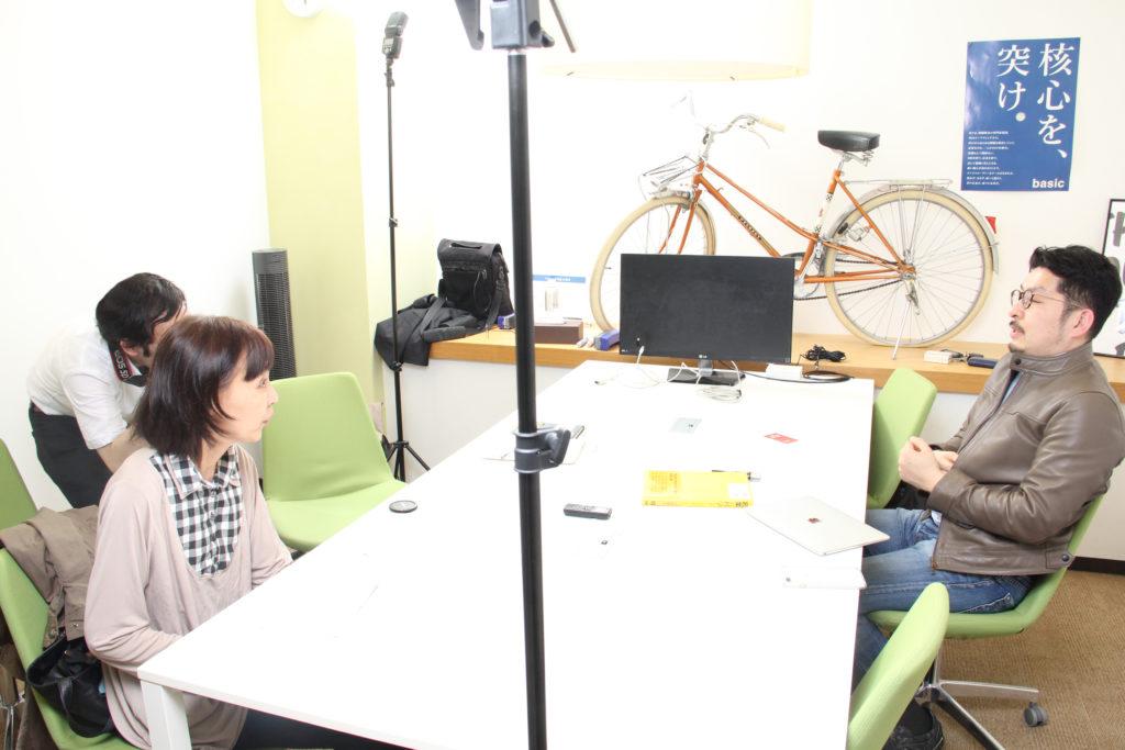 「起業の科学」著者・田所雅之氏インタビューの様子
